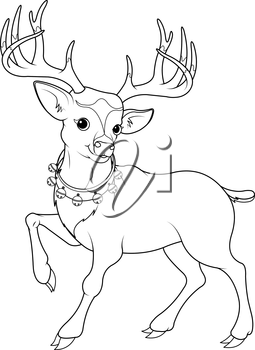 Royalty Free Clipart Image of a Reindeer