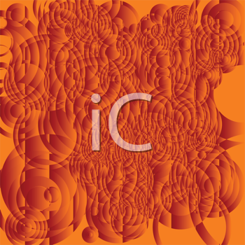 Royalty Free Clipart Image of an Orange Quilted Background