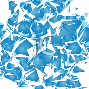 Royalty Free Clipart Image of a Broken Mirror Background