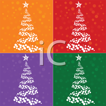 Royalty Free Clipart Image of a Christmas Tree Collection