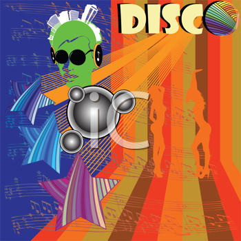 Royalty Free Clipart Image of a Disco Flyer