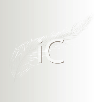 Royalty Free Clipart Image a Floating White Feather on a White Background