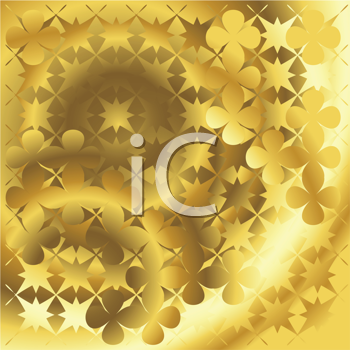 Royalty Free Clipart Image of a Golden Abstract Background