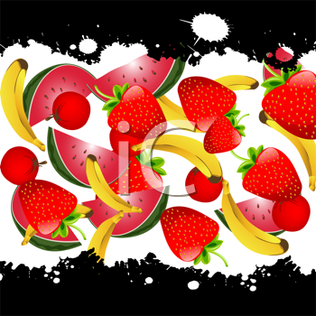 Background illustration with fruits