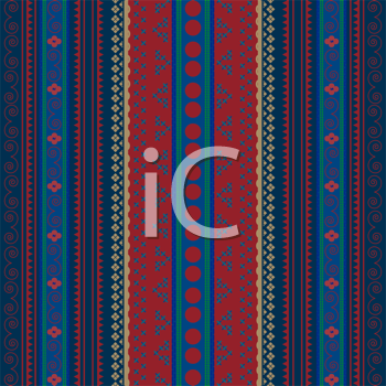 Background with African ornaments, pattern