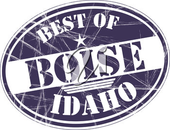 Best of Boise grunge rubber stamp against white background