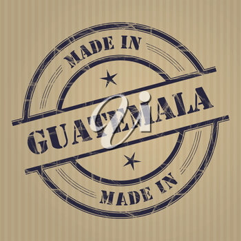 Made in Guatemala grunge rubber stamp