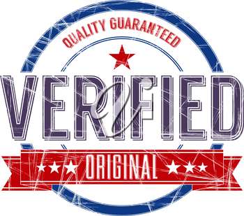 Vintage Stamp with grunge Verified sign