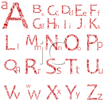 Royalty Free Clipart Image of Letters in Capital and Lower Case