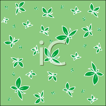 Royalty Free Clipart Image of Leaves on a Backround