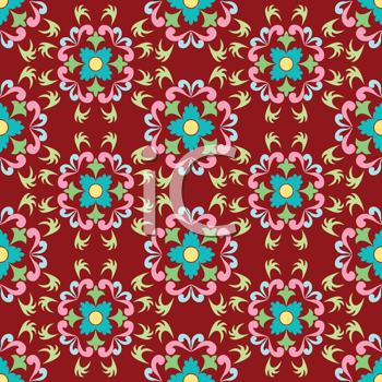 Royalty Free Clipart Image of a Flower Pattern