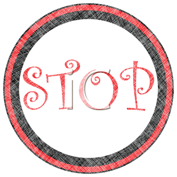 stop rubber stamp, isolated on white background, abstract vector art illustration