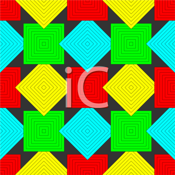 squares pattern, abstract seamless texture; vector art illustration