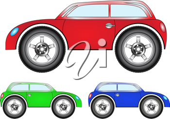 town car set against white background, abstract vector art illustration
