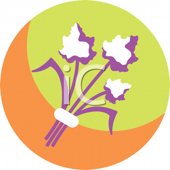 Royalty Free Clipart Image of a Bouquet