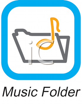 Royalty Free Clipart Image of a Music Folder