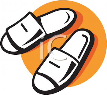 Royalty Free Clipart Image of Slippers