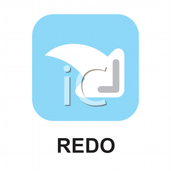 Royalty Free Clipart Image of a Redo Button