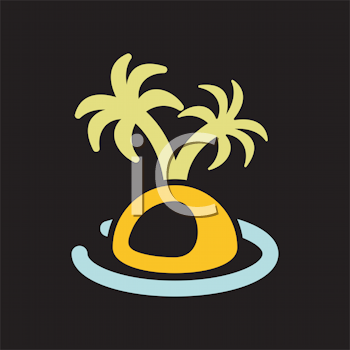 Royalty Free Clipart Image of a Palm