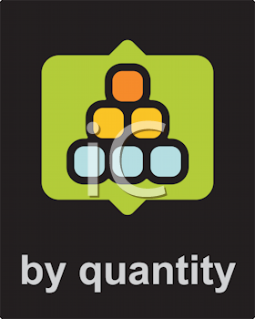 Royalty Free Clipart Image of a By Quantity Icon