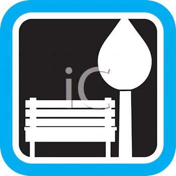 Royalty Free Clipart Image of a Park Bench