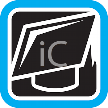 Royalty Free Clipart Image of a Mortarboard