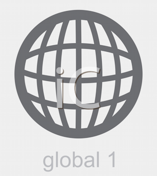 Royalty Free Clipart Image of a Global Icon