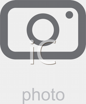 Royalty Free Clipart Image of a Photo Icon