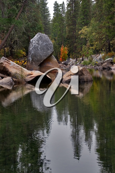 Royalty Free Photo of a River in Sequoia Park
