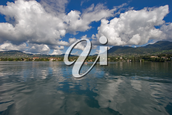 Royalty Free Photo of the Coast of Lake Leman in Switzerland