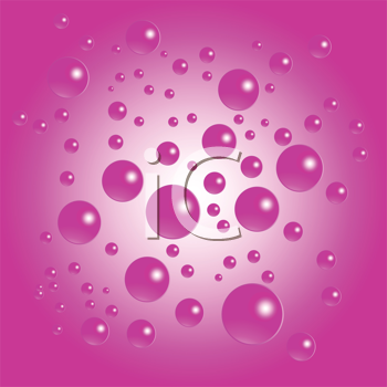 Royalty Free Clipart Image of a Pink Bubble Background