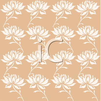 Royalty Free Clipart Image of Flowers on a Cream Background