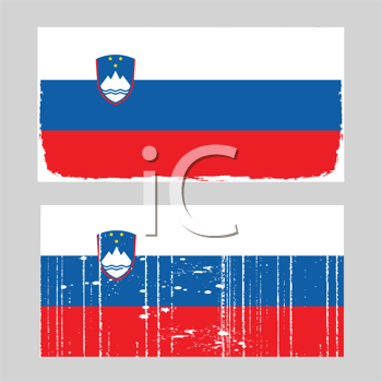 Royalty Free Clipart Image of a Slovenian Flag