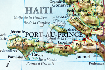 Royalty Free Photo of a Map of Haiti
