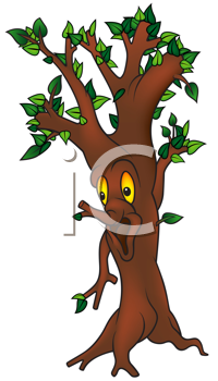 Royalty Free Clipart Image of a Green Tree