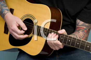 Royalty Free Photo of Guitar Playing