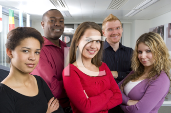 Royalty Free Photo of a Multi-Facial, Multi-Gender Group of Young People