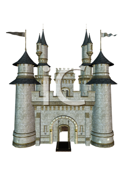 Royalty Free Clipart Image of a Castle