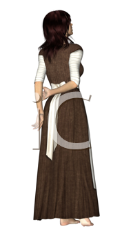 Royalty Free Clipart Image of a Woman Peasant