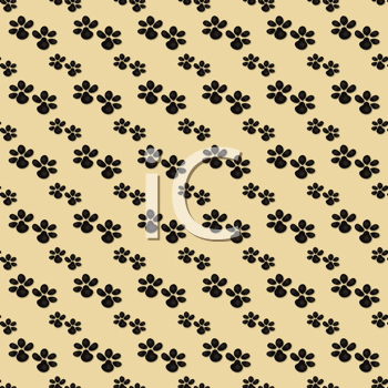 Royalty Free Clipart Image of a Paw Print Background