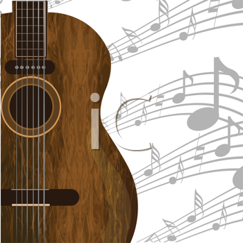 Music concept with guitar