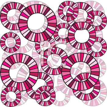 Seamless with pink abstract circles