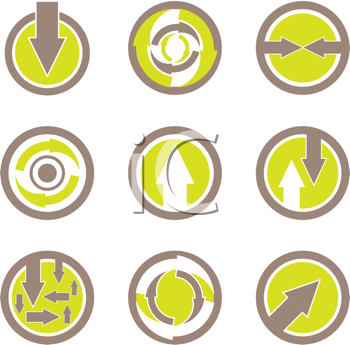 Royalty Free Clipart Image of a Arrow Buttons