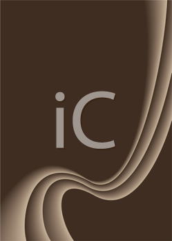 Royalty Free Clipart Image of a Wavy Brown Background