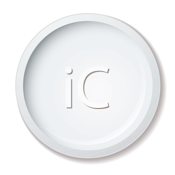 Royalty Free Clipart Image of a White Plate