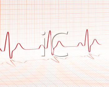 Royalty Free Clipart Image of a Heartbeat Grid