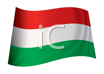 Royalty Free Clipart Image of a Hungarian Flag