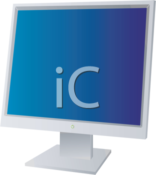 Royalty Free Clipart Image of a Flat Screen