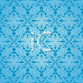 Royalty Free Clipart Image of Blue Wallpaper