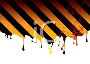 Royalty Free Clipart Image of a Dripping Striped Background